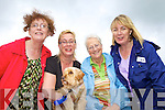 Theresa and Frances Sugrue, Tralee, Joan Roche, Lyreacrompane and Joan Sugrue David from Greece and Beano the dog at the dog show held last Saturday in Lyreacrompane for the annual Dan Paddy Annual Festival