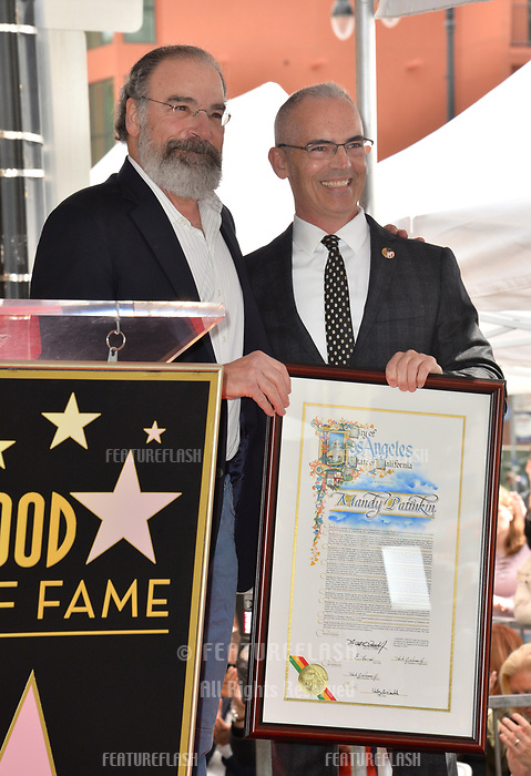 Mandy Patinkin &amp; Mitch O'Farrell at the Hollywood Walk of Fame Star Ceremony honoring actor Mandy Patinkin on Hollywood Boulevard, Los Angeles, USA 12 Feb. 2018<br /> Picture: Paul Smith/Featureflash/SilverHub 0208 004 5359 sales@silverhubmedia.com