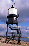 A727YE Victorian lighthouse beacon structures Leading Lights Dovercourt Essex England