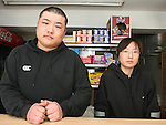 Kevin Liu with his girlfriend Wei Wang in his Fast Food Restaurant, Eurostar in Clogherhead where they were viciously assaulted on Tuesday evening...Photo NEWSFILE/Jenny Matthews.(Photo credit should read Jenny Matthews/NEWSFILE)....This Picture has been sent you under the condtions enclosed by:.Newsfile Ltd..The Studio,.Millmount Abbey,.Drogheda,.Co Meath..Ireland..Tel: +353(0)41-9871240.Fax: +353(0)41-9871260.GSM: +353(0)86-2500958.email: pictures@newsfile.ie.www.newsfile.ie.FTP: 193.120.102.198.
