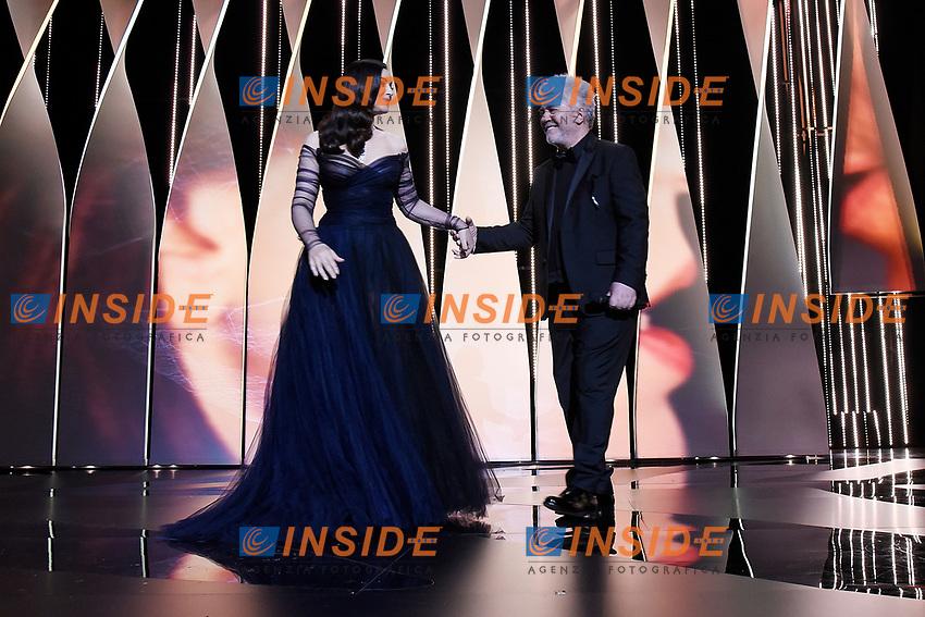 Monica Bellucci, Pedro Almodovar<br /> Cannes 17-05-2017 70&deg;Edizione Festival del Cinema di Cannes. Cerimonia d'apertura<br /> Foto Panoramic / Insidefoto