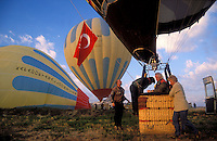 Goreme, Cappadocia, Nevsehir, Turkey. A hot air balloon flight is one of the best ways to explore the fairy chimney landscape of Cappadocia and the Gorme National Park. Photo by Frits Meyst / MeystPhoto.com
