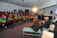 SCHAATSEN: HOOGEVEEN: Hoofdkantoor TVM verzekeringen, 18-10-2013, TVM perspresentatie, Algemeen Directeur TVM Arjen Bos, ©foto Martin de Jong