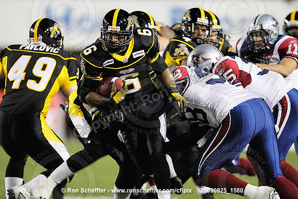 September 25, 2009; Hamilton, ON, CAN; Hamilton Tiger-Cats wide receiver Marquay McDaniel (6). CFL football: Montreal Alouettes vs. Hamilton Tiger-Cats at Ivor Wynne Stadium. The Alouettes defeated the Tiger-Cats 42-8. Mandatory Credit: Ron Scheffler. Copyright (c) 2009 Ron Scheffler.