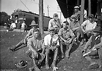 Pittsburgh PA:  Surveyors and crew for the Wabash RR project waiting for a train to go out to Hopedale Ohio - 1903