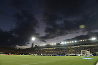 BOGOTA - COLOMBIA, 20-01-2019: Panorámica del estadio durante el encuentro entre Independiente Santa Fe y Millonarios por la final del Torneo Fox Sports 2019 jugado en el estadio Nemesio Camacho El Campin de la ciudad de Bogotá. / Panoramic of the stadium during match between Independiente Santa Fe and Millonarios for the final of Fox Sports Tournament 2019 played at Nemesio Camacho El Campin Stadium in Bogota city. Photo: VizzorImage / Gabriel Aponte / Staff.