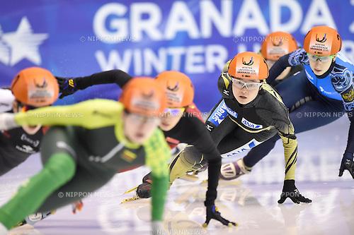 Yuki Kikuchi (JPN), <br /> FEBRUARY 11, 2015 - Short Track : <br /> 27th Winter Universiade Granada 2015 <br /> Short Track Women's 1500m B Final <br /> at Universiade Igloo, Granada, Spain. <br /> (Photo by AFLO SPORT) [1220]