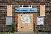 Cricklewood Library, one of six Brent libraries closed following a failed campaign by local residents.
