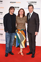 director, Richard Linklater, Claire Stewart and Bryan Cranston<br /> arriving for the London Film Festival 2017 screening of &quot;Last Flag Flying&quot; at the Odeon Leicester Square, London<br /> <br /> <br /> &copy;Ash Knotek  D3325  08/10/2017