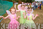 Avie O'Connor, Fay O'Sullivan and Madison O'Connor from Mallow and Kilmoyley  at the Enchanted Fairy Festival in Kilflynn on Sunday