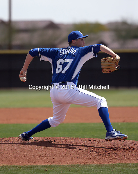 Matt Strahm - Kansas City Royals 2016 spring training (Bill Mitchell)
