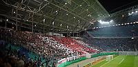 DFB Pokal 2011/12 2. Hauptrunde RasenBallsport Leipzig - FC Augsburg Choreographie im Fanblock.