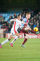 Liam O'Neil of Scunthorpe Utd<br />  - Scunthorpe United vs MK Dons - Sky Bet League One Football at Glanford Park, Scunthorpe, Lincolnshire - 27/01/15 - MANDATORY CREDIT: Mark Hodsman/TGSPHOTO - Self billing applies where appropriate - contact@tgsphoto.co.uk - NO UNPAID USE