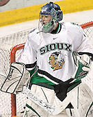 Jordan Parise - The University of Minnesota Golden Gophers defeated the University of North Dakota Fighting Sioux 4-3 on Saturday, December 10, 2005 completing a weekend sweep of the Fighting Sioux at the Ralph Engelstad Arena in Grand Forks, North Dakota.