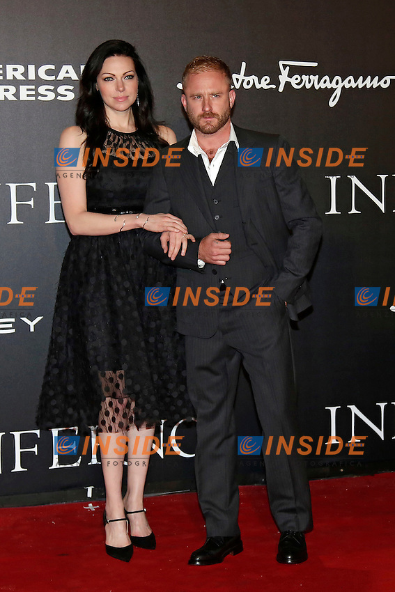 Laura Prepon and Ben Foster<br /> Firenze 08-10-2016. 'Inferno' Anteprima Mondiale.<br /> Florence 8th October 2016. 'Inferno' World Premiere.<br /> Foto Samantha Zucchi Insidefoto