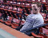 Tim Driscoll (HC - 22) - The Bentley University Falcons defeated the College of the Holy Cross Crusaders 3-2 on Saturday, December 28, 2013, at Fenway Park in Boston, Massachusetts.
