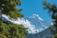 First (last) view of Everest, Khumbu, Nepal