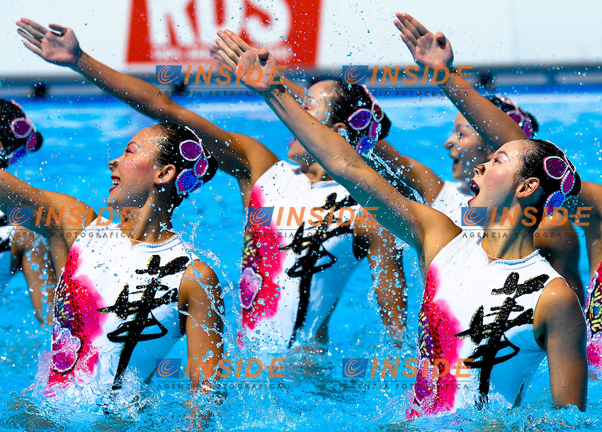 Roma 18th JULY 2009 - 13th Fina World Championships .From 17th to 2nd August 2009.Synchro Technical Team.CHINA (CHN) Bronze Medal.Roma2009.com/InsideFoto/SeaSee.com