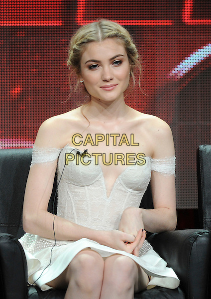 BEVERLY HILLS, CA - AUGUST 6: Skyler Samuels onstage at the 'Scream Queens' panel during the 2015 FOX Summer TCA tour at the Beverly Hilton Hotel on August 6, 2015 in Beverly Hills, California. <br /> CAP/MPI/PGFM<br /> &copy;PGFM/MPI/Capital Pictures