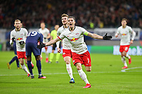 10th March 2020, Red Bull Arena, Leipzig, Germany; EUFA Champions League, RB Leipzig v Tottenham Hotspur;  Marcel Sabitzer of RB Leipzig celebrates his goal for 1:0