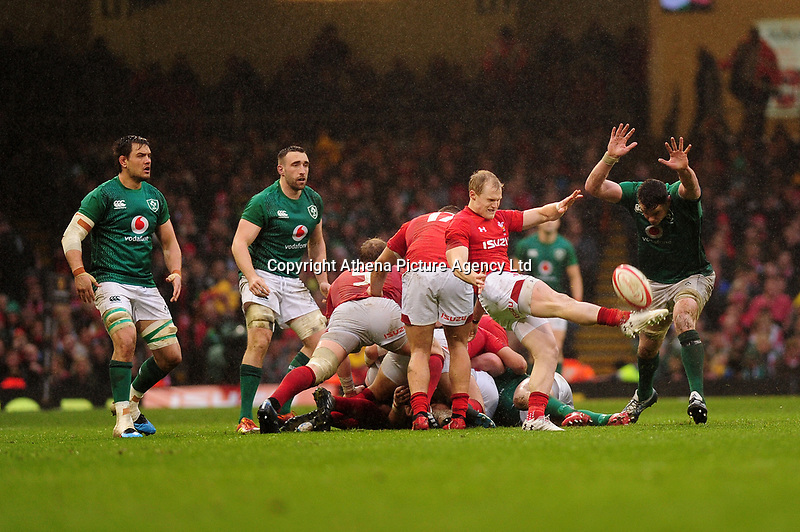 Pictured: Aled Davies of Wales in action during the Guinness six nations match between Wales and Ireland at the Principality Stadium, Cardiff, Wales, UK.<br /> Saturday 16 March 2019