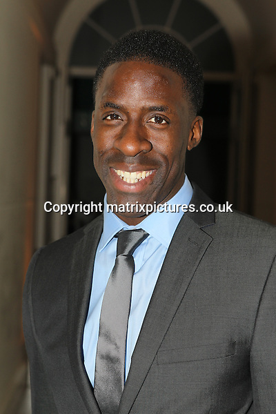 NON EXCLUSIVE PICTURE: TREVOR ADAMS / MATRIXPICTURES.CO.UK<br /> PLEASE CREDIT ALL USES<br /> <br /> WORLD RIGHTS<br /> <br /> British Olympic athlete Dwain Chambers attending the CANDY Magazine Autumn/Winter 2013 Launch Party, hosted by Nick Candy at the Saatchi Gallery in King's Road, London.<br /> <br /> OCTOBER 15th 2013<br /> <br /> REF: MTX 136759