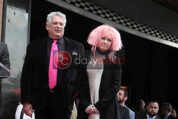 Harvey Fierstein, Cyndi Lauper<br /> at the Cyndi Lauper and Harvey Fierstein Double Walk of Fame Ceremony, Hollywood, CA 04-11-16<br /> David Edwards/Dailyceleb.com 818-249-4998