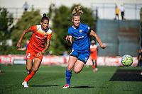 Seattle, Washington - Sunday, June 12, 2016: Seattle Reign FC midfielder Beverly Yanez (17) during a regular season National Women's Soccer League (NWSL) match at Memorial Stadium. Seattle won 1-0.