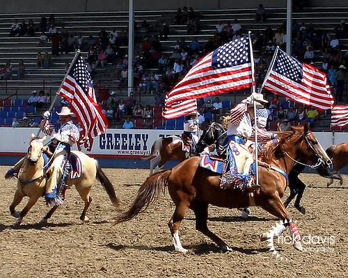Patriotism at the Greeley Independence Stampede Rodeo.