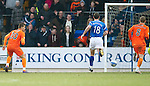 St Johnstone v Dundee United...11.02.12.. SPL.Milos Lacny scores the fith goal.Picture by Graeme Hart..Copyright Perthshire Picture Agency.Tel: 01738 623350  Mobile: 07990 594431
