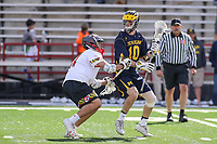 College Park, MD - April 1, 2017: Michigan Wolverines Ian King (10) in action during game between Michigan and Maryland at  Capital One Field at Maryland Stadium in College Park, MD.  (Photo by Elliott Brown/Media Images International)