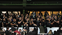 Beauden Barrett of New Zealand lifts the Killik Cup after winning the 125th Anniversary Match between Barbarians and New Zealand at Twickenham Stadium on Saturday 4th November 2017 (Photo by Rob Munro/Stewart Communications)