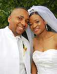 The wedding of Keisha Reid and Omar Jones at St. Mark's Church in Brooklyn, New York on Saturday June 28, 2008.