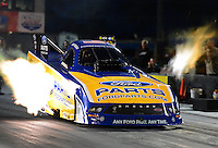 Jan. 17, 2013; Jupiter, FL, USA: NHRA funny car driver Bob Tasca III during testing at the PRO Winter Warmup at Palm Beach International Raceway.  Mandatory Credit: Mark J. Rebilas-