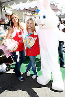 April 2, 2010: Haylie Duff and Beverley Mitchell at the LA Mission Easter Luncheon event for the homeless in Los Angeles, California. .Photo by Nina Prommer/Milestone Photo.