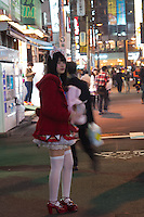 Maid Cafe waitress in Akihabara Electric Town in  Tokyo Japan