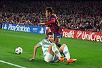 UEFA Champions League 2013/2014.<br /> FC Barcelona vs Celtic FC: 6-1 - Game: 6.<br /> Neymar vs Adam Matthews.