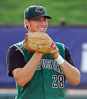 22 Aug 2007: Mike McBryde of the Augusta GreenJackets, Class A South Atlantic League affiliate of the San Francisco Giants, in a game against the Greenville Drive at West End Field in Greenville, S.C. Photo by:  Tom Priddy/Four Seam Images