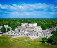 Mexiko, Yucatan, Chichen Itza: Templo de los Guerreros – Der Kriegertempel | Mexico, Yucatan, Chichen Itza: Templo De Los Guerreros (temple of the Warriors)