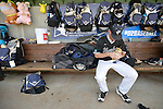 4 JUNE 2016:  Matt Ulrich (35) of Millersville University waits for the start of the the Division II Men's Baseball Championship against Millersville University at the USA Baseball National Training Complex in Cary, NC.  Nova Southeastern University defeated Millersville University 8-6 to win the national title. Grant Halverson/NCAA Photos
