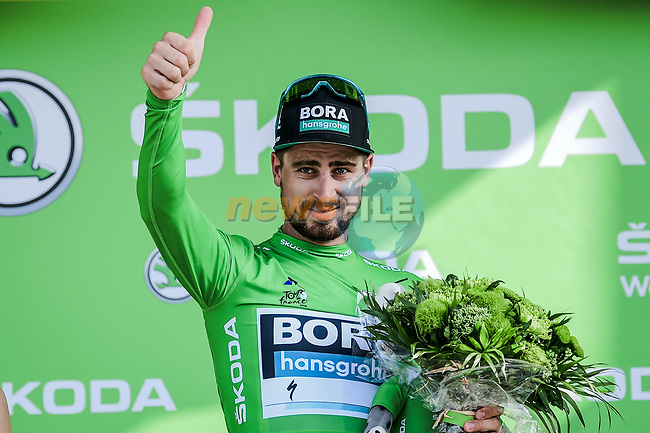 Peter Sagan (SVK) Bora-Hansgrohe retains the points Green Jersey at the end of Stage 16 of the 2019 Tour de France running 177km from Nimes to Nimes, France. 23rd July 2019.<br /> Picture: ASO/Pauline Ballet   Cyclefile<br /> All photos usage must carry mandatory copyright credit (© Cyclefile   ASO/Pauline Ballet)