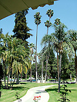 Wrigley Mansion grounds in Pasadena, Tournament House Garden