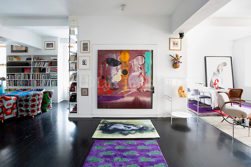 Eclectic bright living room