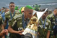 SÃO PAULO,SP, 02.12.2018 - PALMEIRAS-VITÓRIA – Deyverson do Palmeiras comemoram a conquista do Campeonato Brasileiro de 2018, após  partida contra o Vitória na Arena Allianz Parque em São Paulo, neste domingo, 02. (Foto: Levi Bianco/Brazil Photo Press)