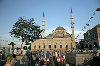 Eminonu, Istanbul, Turkey: the New Mosque and the Egyptian Spice Bazaar
