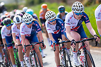 Picture by Alex Whitehead/SWpix.com - 03/05/2018 - Cycling - 2018 Asda Women's Tour de Yorkshire - Stage 1: Beverley to Doncaster - Abbie Dentus leads her Great Britain team-mates.