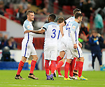 England's Jamie Vardy celebrates scoring his sides opening goal during the International friendly match at Wembley.  Photo credit should read: David Klein/Sportimage
