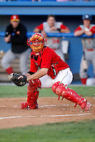 August 5, 2009:  Catcher Alan Ahmady of the Batavia Muckdogs during a game at Dwyer Stadium in Batavia, NY.  The Muckdogs are the Short-Season Class-A affiliate of the St. Louis Cardinals.  Photo By Mike Janes/Four Seam Images