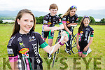Almha Russell-Kissane who won a bonze medal at the u14 scratch race at the Ireland National Track championships at Sundrive velodrome Dublin last week with her Killarney Cycling club team mates Jaden Leane, Sarah McGrath, and Tara Russell-Kissane