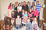 Patricia Buckley, St Brendans Place, Killarney, pictured with her family as she celebrated her 60th birthday in Kilcummin on Friday night.......
